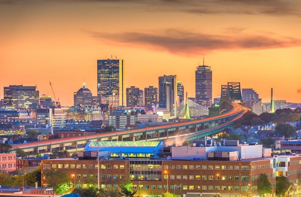 Photo of Sunset sky in Boston, Ma.